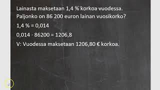 Kurssi 4: Prosenttilaskentaa ja tilastoja, osa2: Määrän laskeminen