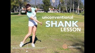 how to fix shank golf with aimee