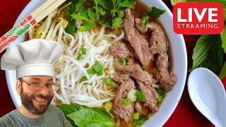 Beef Pho, Fried Rice, & Chinese Doughnuts | December 15th Cooking Live Stream