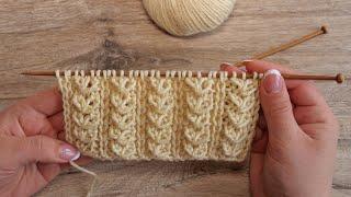 Микс узора «Гусинные лапки» со снятыми петлями | Mix pattern Goose Feet