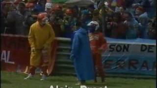 Prost Spins off on Parade Lap - 1991 San Marino Grand Prix