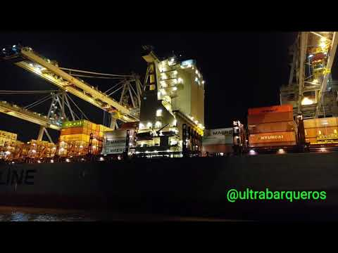 "Container Ship ""MAERSK LANCO"" /Pilot Vessel ""SEA LIGHT"" #MontevideoHarbour #Uruguay #CargoOperations"