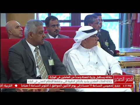 Ministry of Health meeting the King of Bahrain