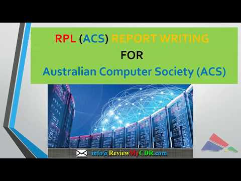 RPL Writing | ACS Skills Assessment Overview | Australian Immigration
