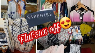 Sapphire Sale flat 50% off pret and bedsheet shopping- Vlogs for all