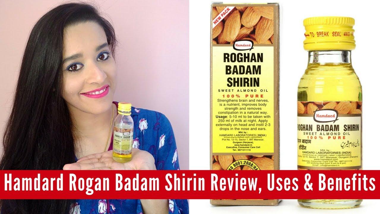 Hamdard Rogan Badam Shirin (Sweet Almond Oil) Review, Uses & Benefits |  Just another girl