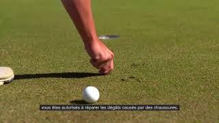 Règles de golf 2019 : Réparer les dommages causés aux greens