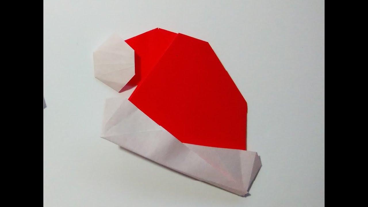 Como hacer un gorro de papel navide o sencillo youtube - Como hacer figuras de navidad ...