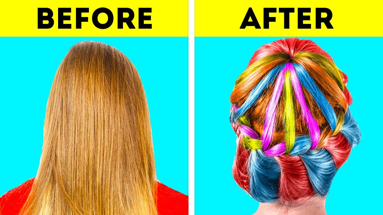 Amazing Hair Transformations by 5-Minute Crafts GIRLY !