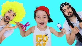 Çılgın Berber! Yusuf Playing with Hairdresser Toys - Funny Kids Video