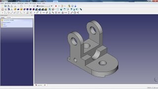 FreeCAD Lesson 04 - Bearing Bracket