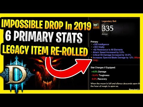 It Will NEVER Drop Again D3 Item 6 PRIMARY Affixes Works In 2019 (Diablo 3 Legacy Items Explained)