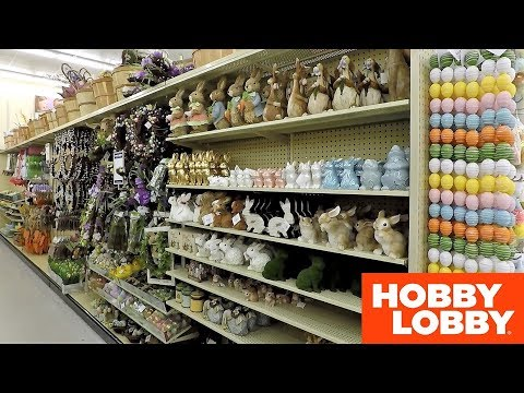 HOBBY LOBBY EASTER DECOR SPRING 2019 - SHOP WITH ME SHOPPING STORE WALK THROUGH 4K