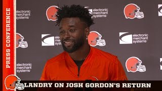 Jarvis Landry: Everyone is excited to have Josh back   Cleveland Browns