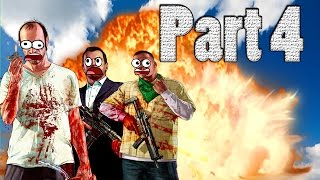GTA V PC Gameplay Part 4- Exploding heads,Dying,and Destruction
