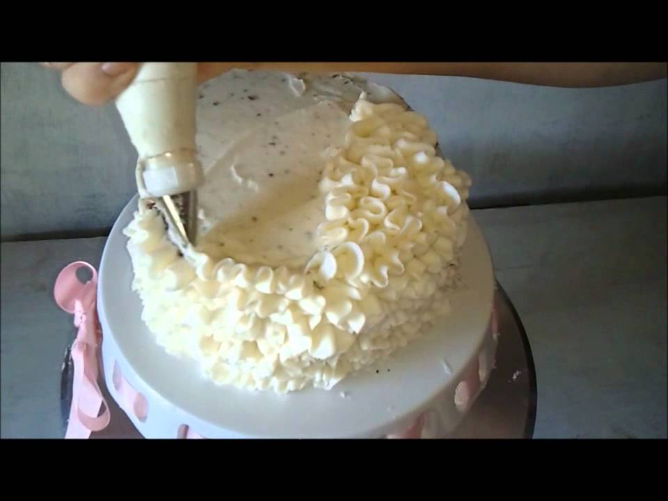 Messy Buttercream Ruffles Decorating Tutorial Video With