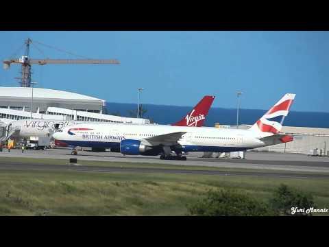 Air Canada A320 | British Airways 777 Landing in Antigua [HD]