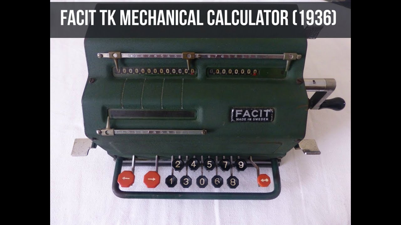 Facit Tk Mechanical Calculator Demo 1936 Youtube The Circuit Board Showing Integrated Just