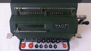 Facit TK Mechanical Calculator Demo (1936)