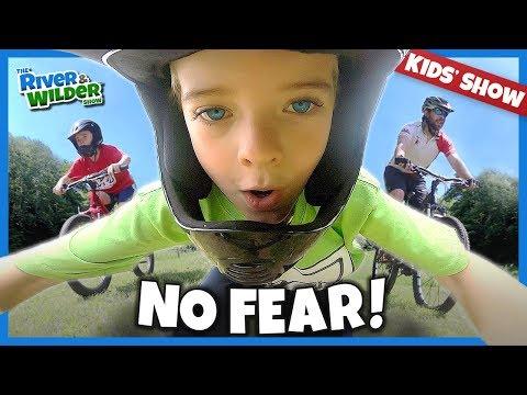 BMX Kids Get Crazy Fun MOUNTAIN BIKE Lessons | River And Wilder Show