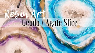 How to create your own RESIN ART Geodo/ Agate Slice