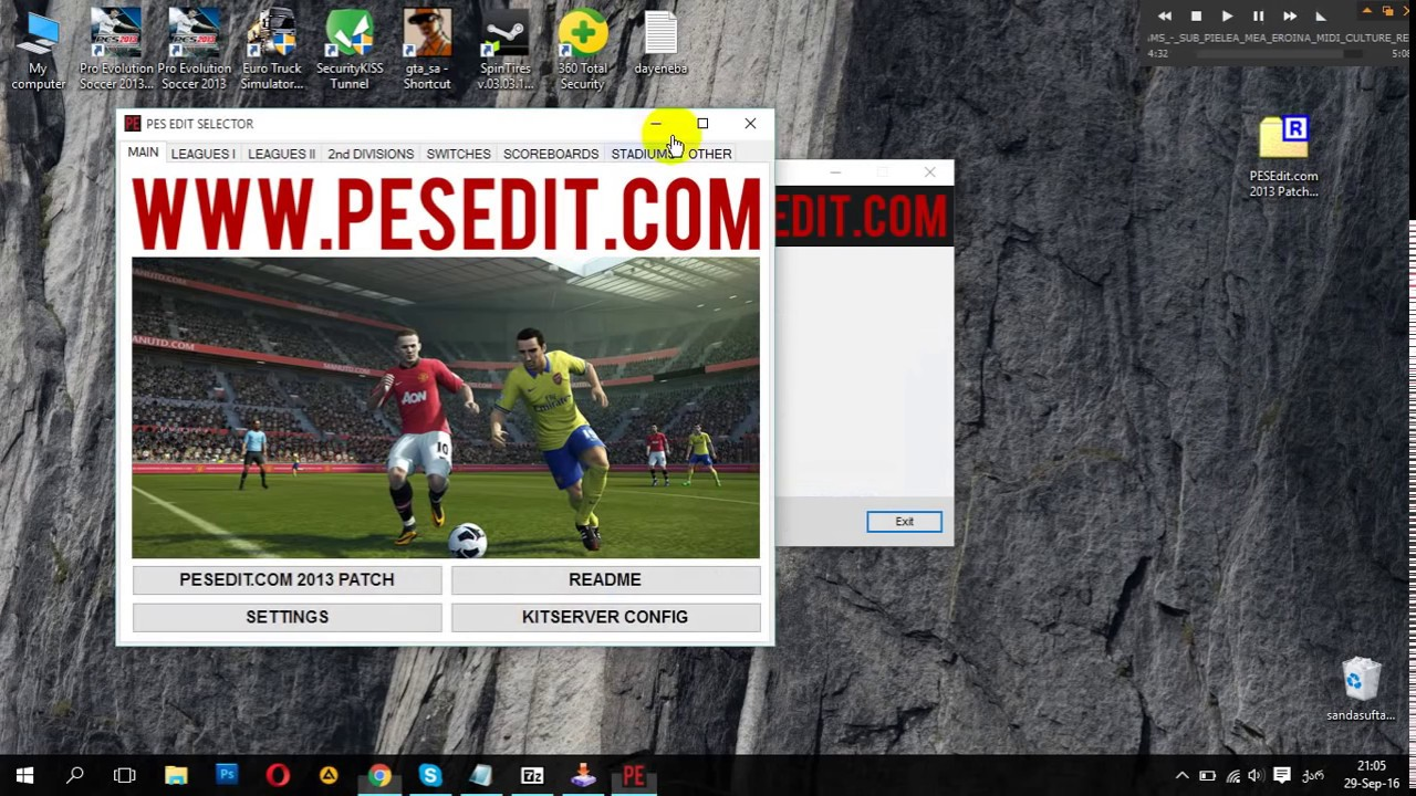 Pesedit. Com 2013 patch 6. 0 pes patch.