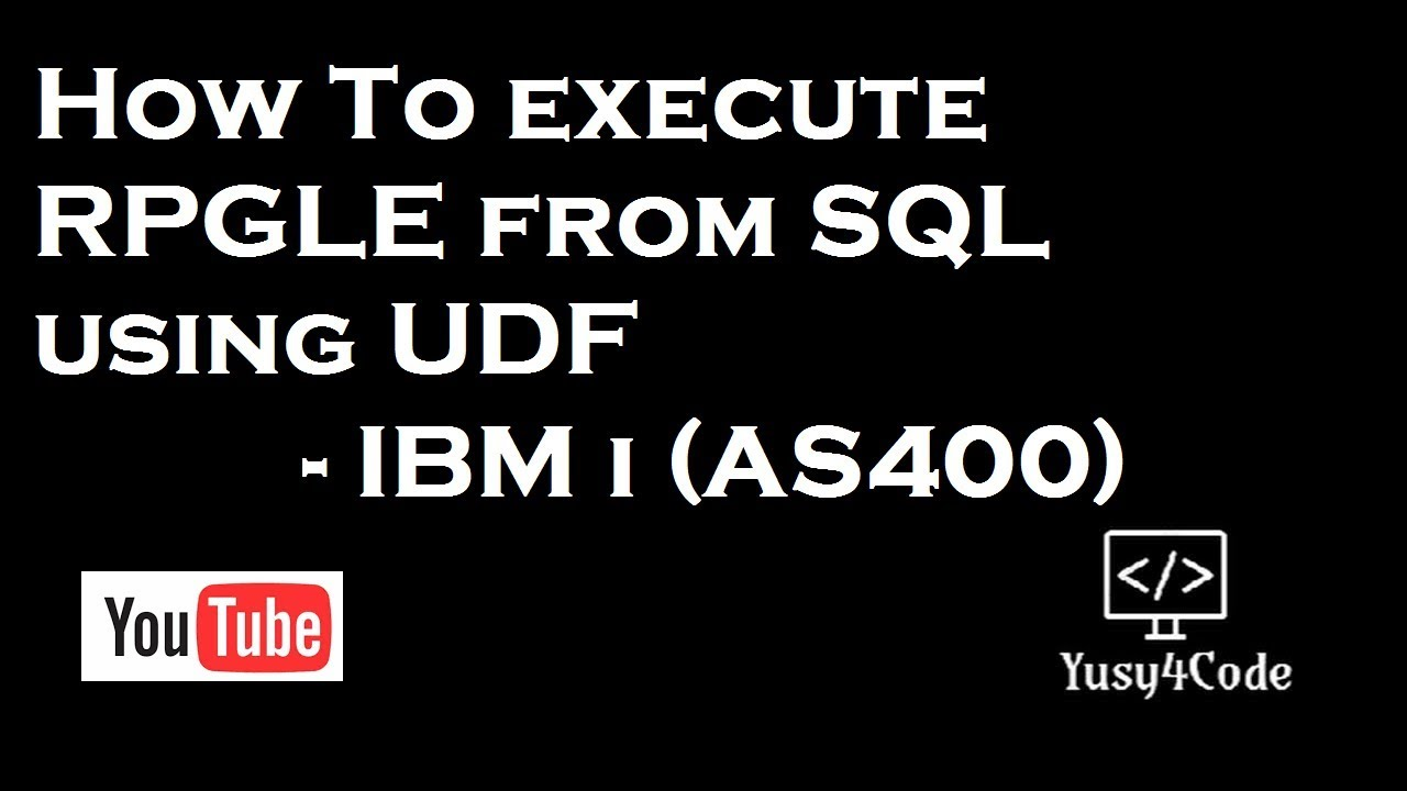 Introduction to User Define Function in IBM i (AS400) for Beginners