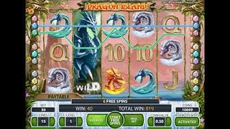 Dragon Island free spins and BIG WIN