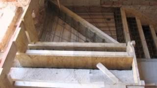 šalování a betonáž schodů