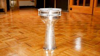 MEINL Percussion - Aluminium Jingle Darbuka, Hand Hammered - HE-315