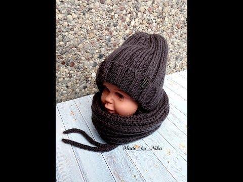Стильные шапки для мальчиков спицами