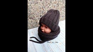 видео Вязаная шапка для мальчика