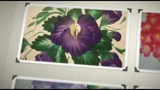Laminas para pintar flores con pinceladas no necesitas es muy fácil