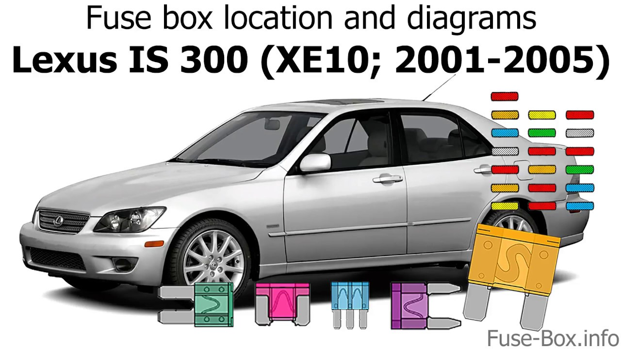 Fuse Box Location And Diagrams  Lexus Is 300  Xe10  2001