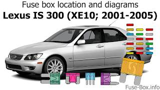 fuse box location and diagrams: lexus is 300 (xe10; 2001-2005) - youtube  youtube