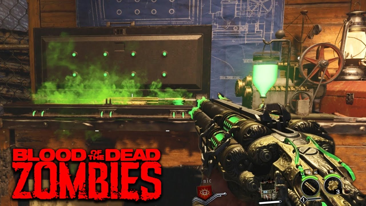 Blood Of The Dead Acid Gat Kit All Parts Guide Black Ops 4 Zombies Blood Of The Dead Youtube