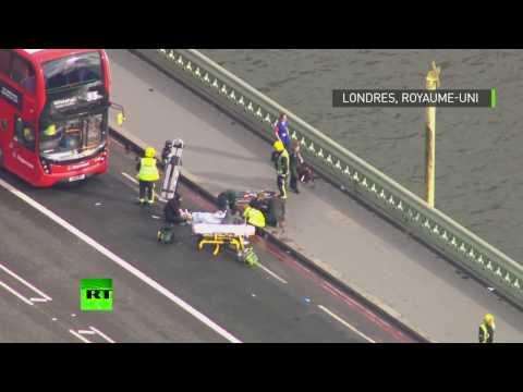 Premières images de Westminster après les coup de feu entendus près du parlement britannique
