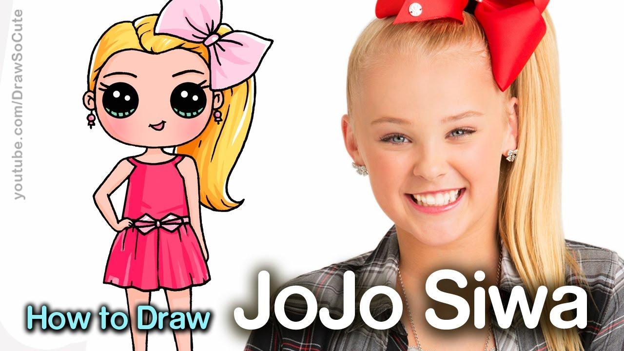 How to Draw JoJo Siwa - YouTube