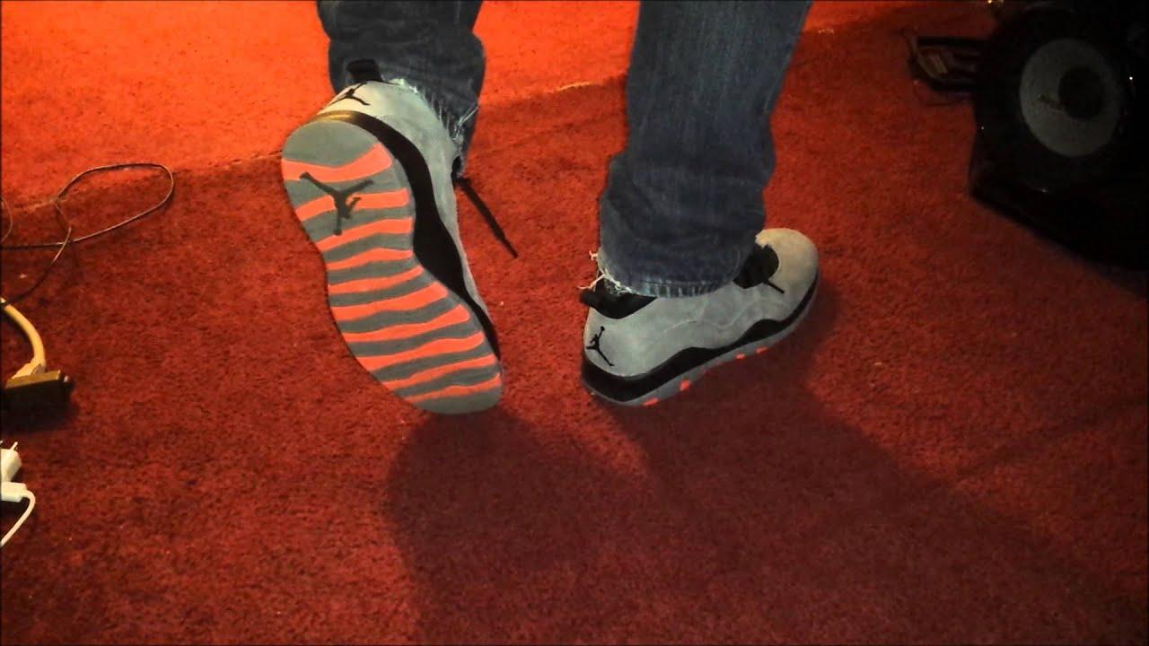 1ac5490d801700 2014 Air Jordan Cool Grey Infrared 10s On Feet - AnAsianBr0skii ...