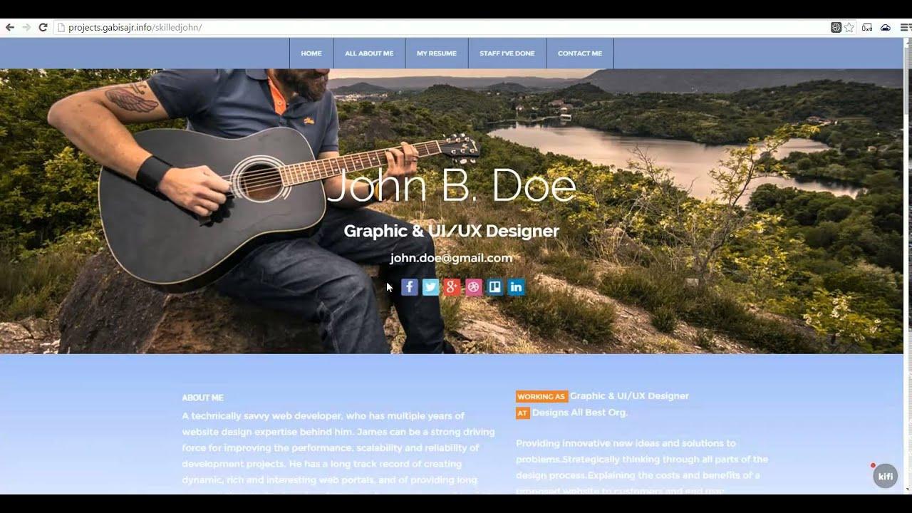 Skilled John Doe Resume Portfolio - YouTube