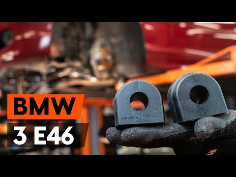 How to replace anti roll bar bushes / sway bar bushes onBMW 3 (E46) [TUTORIAL AUTODOC]