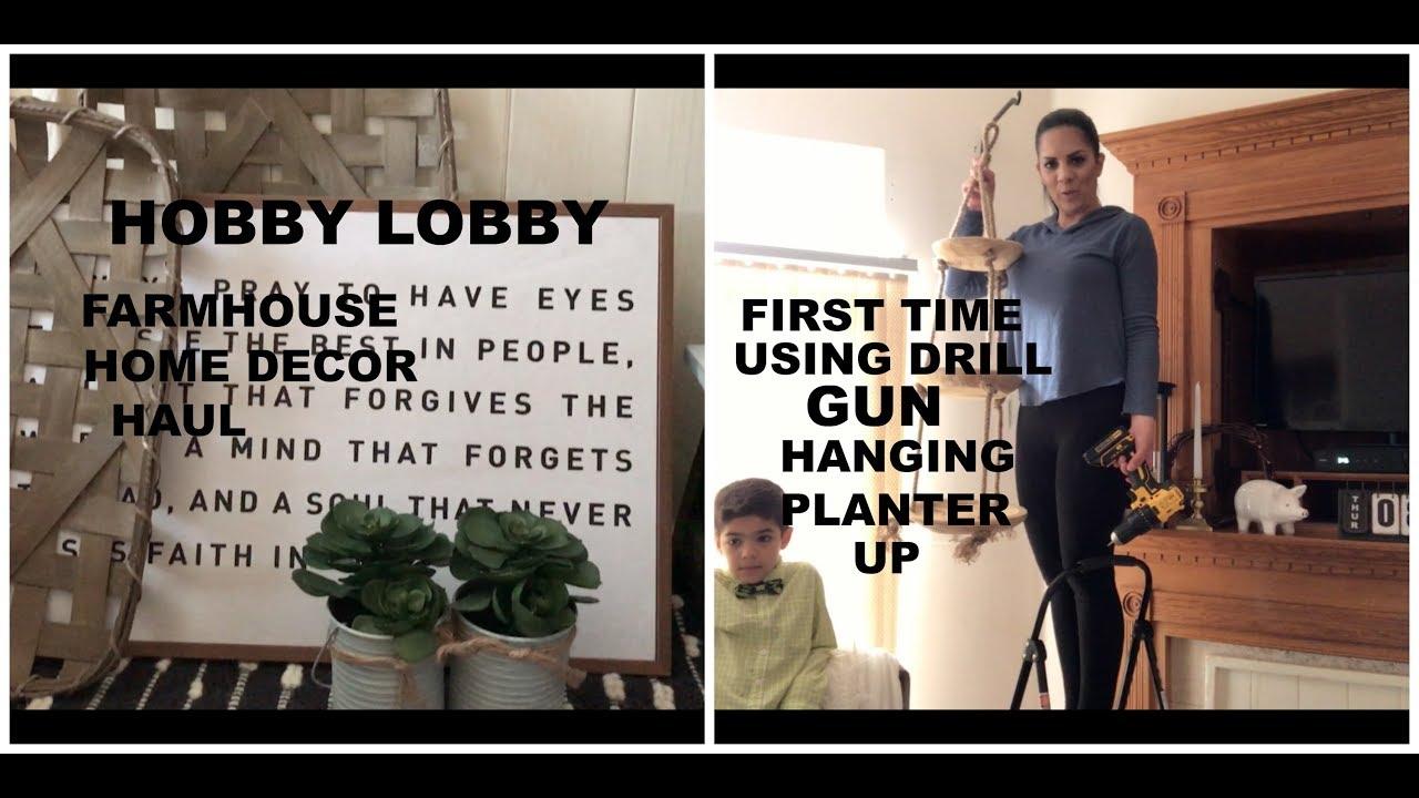 hobby lobby farmhouse home decor haul hanging planter youtube