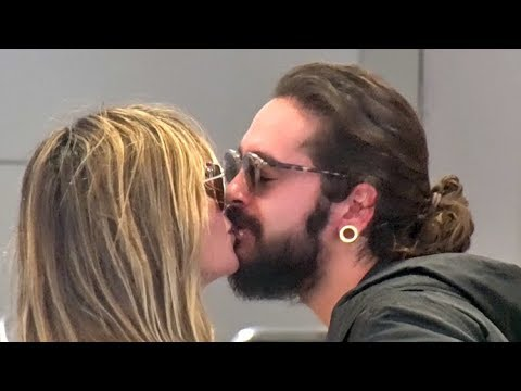 Heidi Klum And Fiance Tom Kaulitz Share Kisses And Asked About Wedding Date At LAX