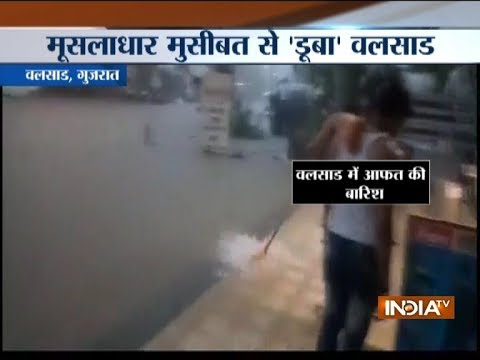 Waterlogging in parts of Gujarat due to heavy rainfall