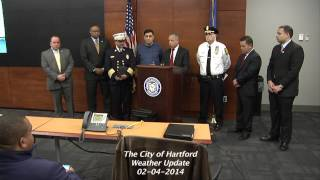 Winter Storm Press Briefing - Hartford Public Safety Complex - February 4th, 2014 Thumbnail