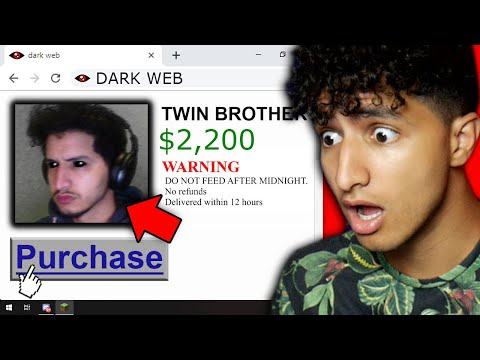 I Bought A TWIN Off The DARK WEB And He ATTACKED ME...