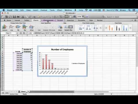 how to make histograms in excel mac