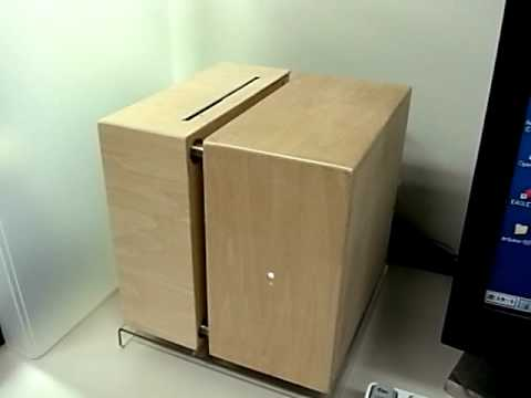 Wooden Cube PC Case : DVD Slot-In