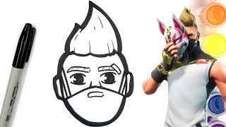 HOW TO DRAW DRIFT SKIN - FORTNITE