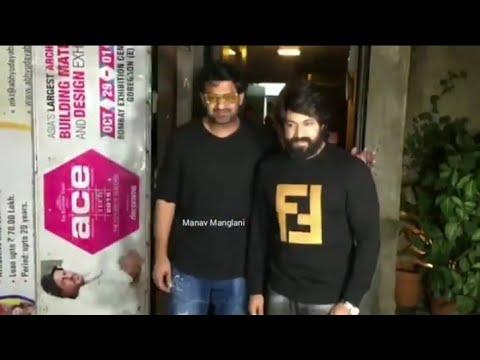 Prabhas and Yash at Hotel Bandra